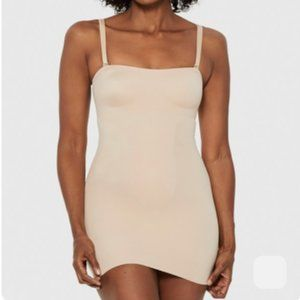 RUBY RIBBON Convertible Slip in NUDE